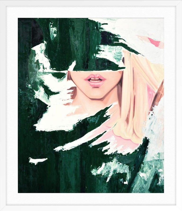 Shattered Reality - Black Print by John Grande