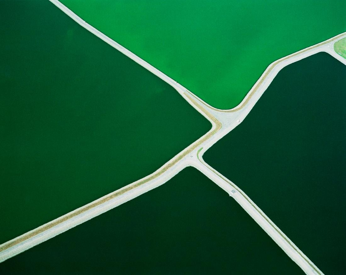 Five Green Ponds, Batavia, NY (Archival Digital Aerial Landscape Photograph)