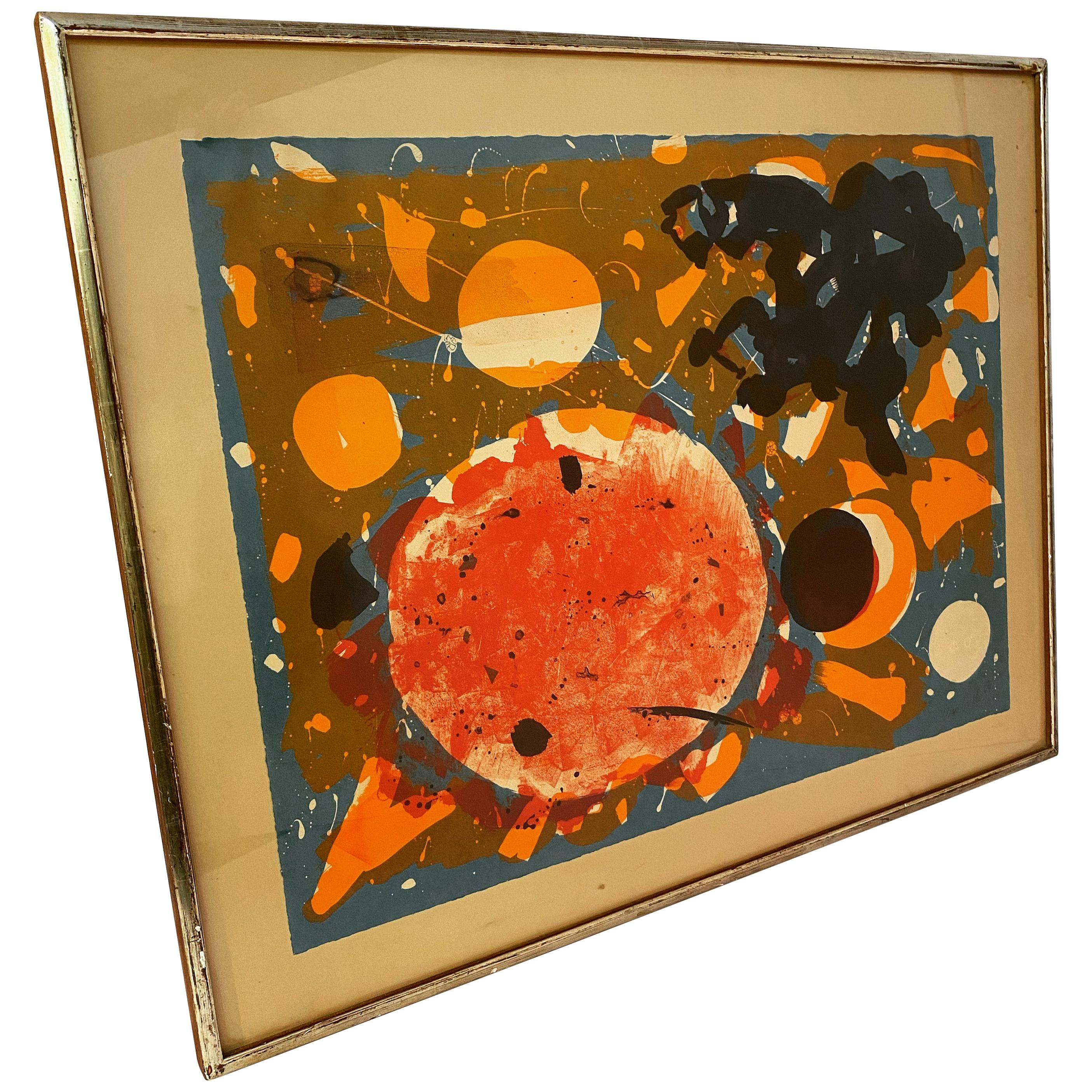 John Grillo 1964 Abstract Expressionist Lithograph