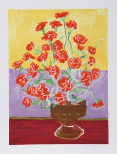 Carnations, Serigraph by John Grillo
