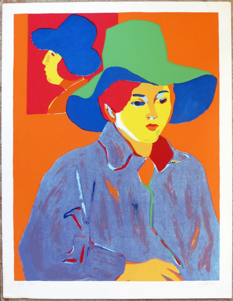Girl With Hat - Print by John Grillo