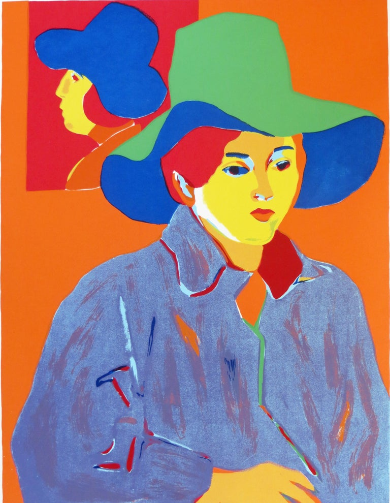 John Grillo Portrait Print - Girl With Hat