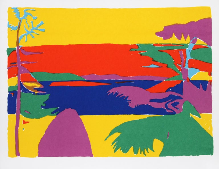 Artist:  John Grillo, American (1917 - 2014) Title:  Kaleidoscope III Year:  1980 Medium:  Serigraph, signed and numbered in pencil Edition:  200 Image Size:  22 x 30 inches Size:  26 in. x 32.5 in. (66.04 cm x 82.55 cm)