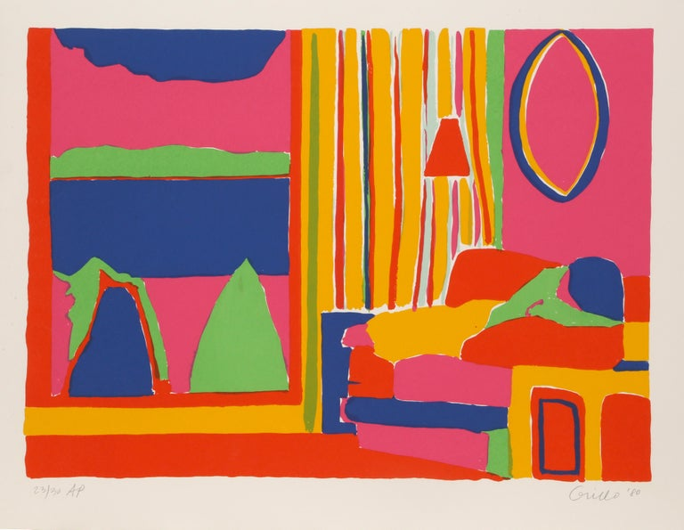 Artist:  John Grillo, American (1917 - 2014) Title:  Kaleidoscope V Year:  1980 Medium:  Serigraph, Signed and Numbered in Pencil Edition:  200, AP 30 Image Size:  22 x 29.5 inches Size:  26 in. x 40 in. (66.04 cm x 101.6 cm)