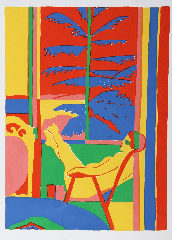 John Grillo Figurative Print - Lady in Chair