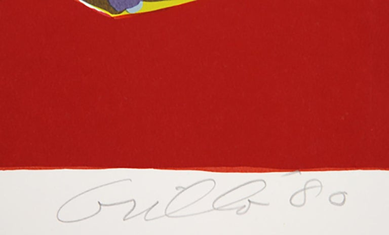 Pajaro (Green Lamp), Pop Art Serigraph by John Grillo For Sale 1