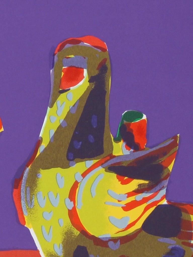 Pajaro (Green Lamp), Pop Art Serigraph by John Grillo For Sale 2