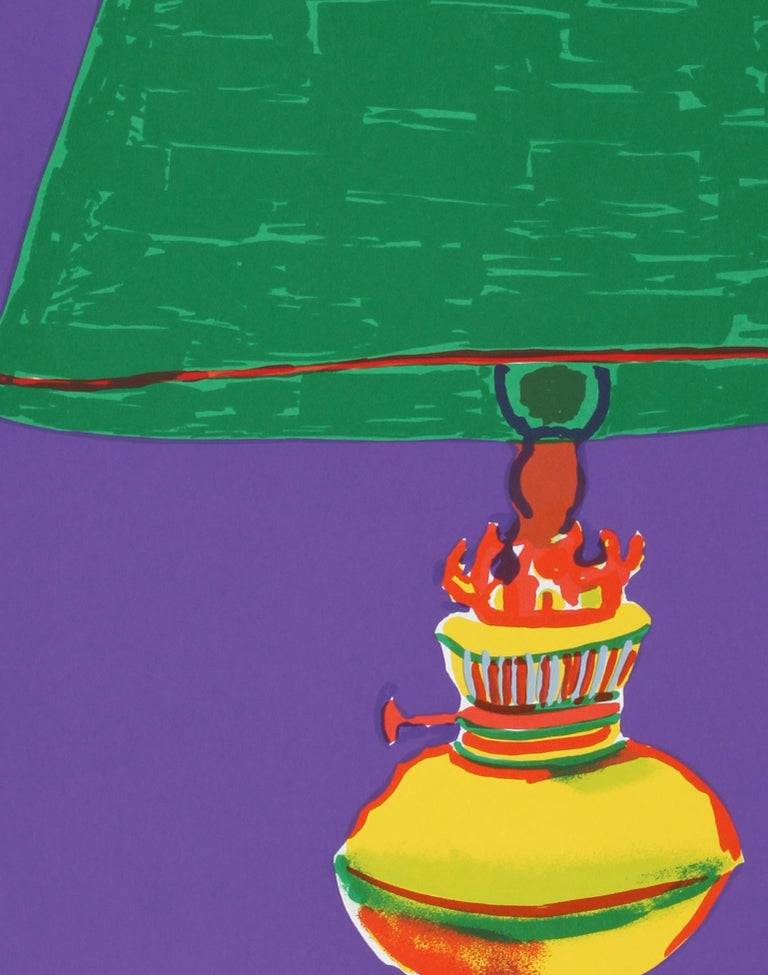Pajaro (Green Lamp), Pop Art Serigraph by John Grillo For Sale 3