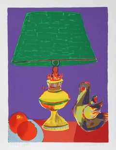 Pajaro (Green Lamp), Pop Art Serigraph by John Grillo