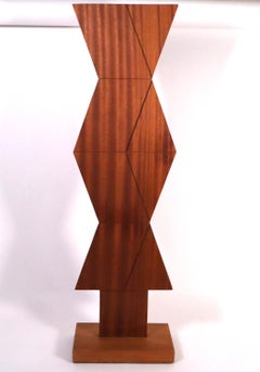 Untitled #385 hard wood sculpture 1971 abstract geometric illusion Op art