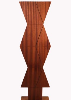 Untitled John Haley hard wood sculpture 1971 abstract geometric illusion Op art