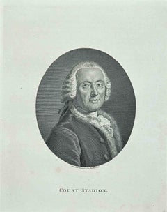 Portrait of Count Stadion - Original Etching by John Hall - 1810