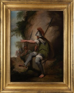 18th century painting of a bandit taking up his post