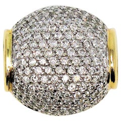 John Hardy 1.50 Carat Pave Diamond Necklace Enhancer / Pendant 18 Karat Gold