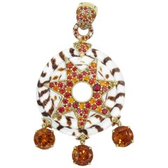 John Hardy 18 Karat Yellow Gold White Coral with Citrine