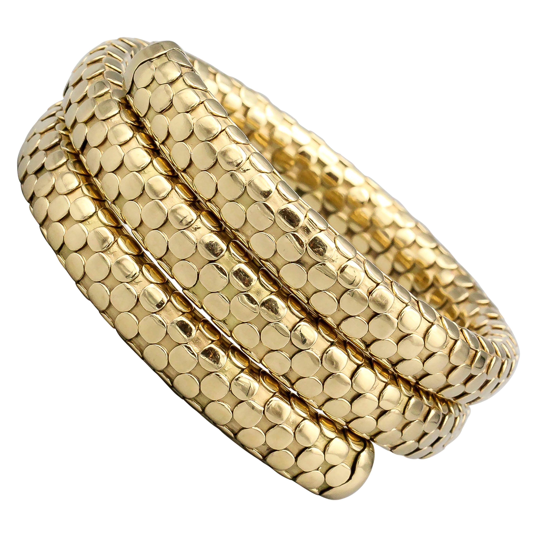 John Hardy 18k Yellow Gold Dot Coil Bracelet