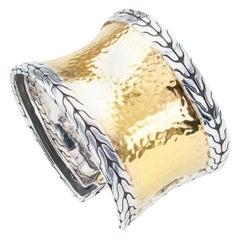 John Hardy 22 Karat Gold Sterling Silver Cuff Bracelet