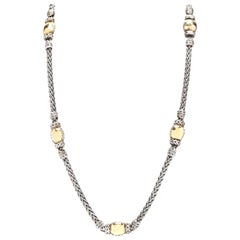 John Hardy 22 Karat Yellow and Sterling Silver Chain Necklace