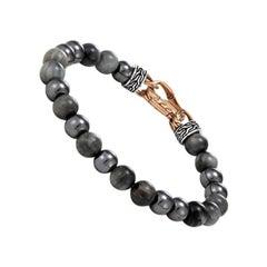 John Hardy Asli Classic Chain Link Bead Bracelet, Eagle Eye BMS90218OZEGHEXM