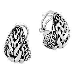 John Hardy Asli Classic Chain Link Buddha Belly Earrings EB90372