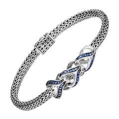 John Hardy Asli Link Station Bracelet with Blue Sapphire BBS902404BSPXM
