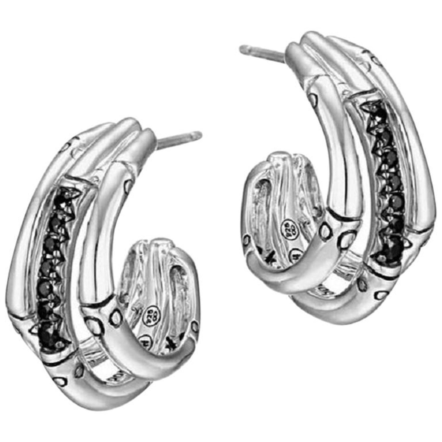 e2e778240 John Hardy Bamboo Earrings EBS57654BLS For Sale at 1stdibs