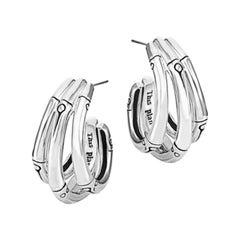 John Hardy Bamboo Small J Hoop Earring EB5759