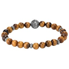 John Hardy Bead Bracelet with Tiger Eye BMS9465511TEXM