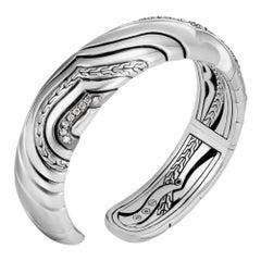 SIlver Bracelet with Grey & White Diamonds -  John Hardy
