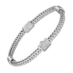 John Hardy Chain Four-Station Bracelet with Diamonds BBP9694DIXM