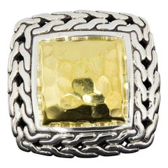 John Hardy Chain Sterling Silver Statement Ring