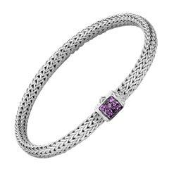 John Hardy Classic Chain Bracelet with Amethyst BBS96002AMXM