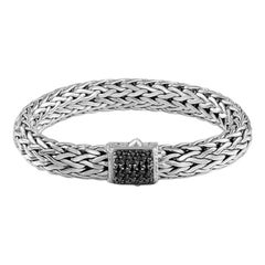 John Hardy Classic Chain Bracelet with Black Sapphire BBS94052BLSXL