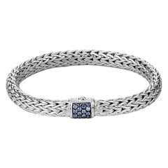 John Hardy Classic Chain Bracelet with Blue Sapphire BBS90409BSPXL