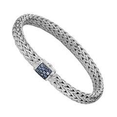 John Hardy Classic Chain Bracelet with Blue Sapphire BBS90409BSPXM