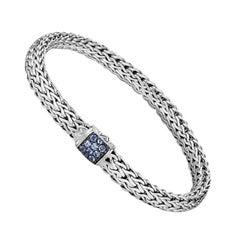 John Hardy Classic Chain Bracelet with Blue Sapphire BBS9042BSPXL