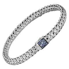 John Hardy Classic Chain Bracelet with Blue Sapphire BBS9042BSPXS