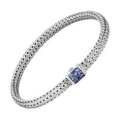 John Hardy Classic Chain Bracelet with Blue Sapphire BBS96002BSPXL