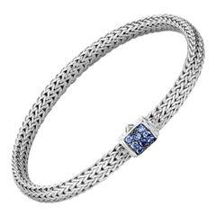 John Hardy Classic Chain Bracelet with Blue Sapphire BBS96002BSPXM