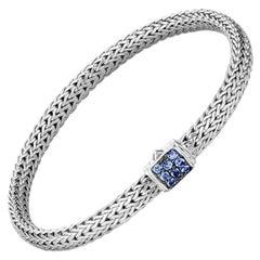 John Hardy Classic Chain Bracelet with Blue Sapphire BBS96002BSPXS
