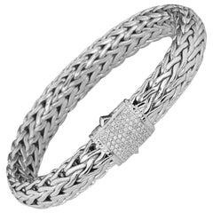 John Hardy Classic Chain Bracelet with Diamonds BBP94052DIAXM