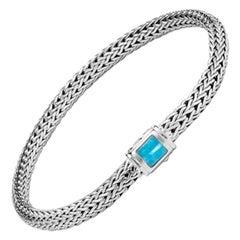 John Hardy Classic Chain Bracelet with Turquoise BBS961841TQXM