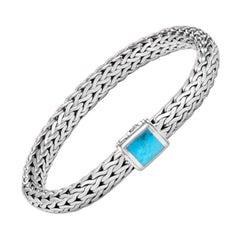 John Hardy Classic Chain Bracelet with Turquoise BBS971131TQXM