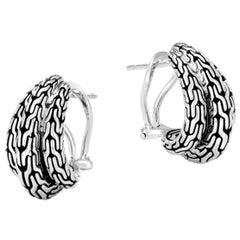 John Hardy Classic Chain Buddha Belly Earring EB999687