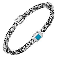 John Hardy Classic Chain Four-Station Bracelet Turquoise BBS961871TQXM