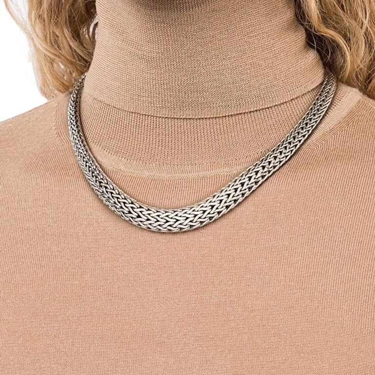 John Hardy's Classic Chain collection is representative of community and human bond, featuring hand-woven precious metal that has become the brand's essential trademark.  Sterling Silver New w/ Tags