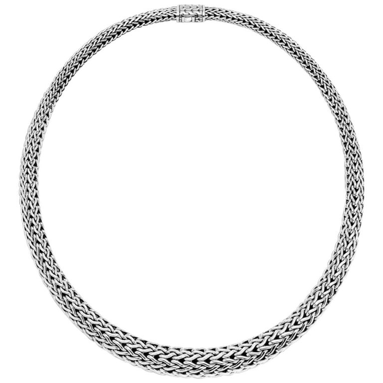 John Hardy Classic Chain Graduated Necklace For Sale