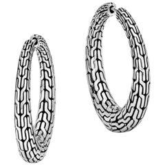 John Hardy Classic Chain Graduated Small Hoop Earring EB93298