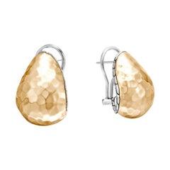 John Hardy Classic Chain Hammered Buddha Earring EZ97185