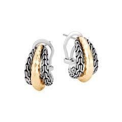 John Hardy Classic Chain Hammered Buddha Earring EZ999687